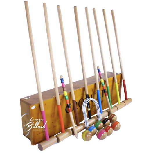 jeu de Croquet 8 joueurs en bois
