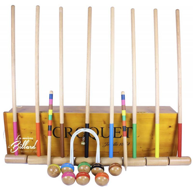 jeu de croquet 8 joueurs avec malle jeu de jardin familial. Black Bedroom Furniture Sets. Home Design Ideas