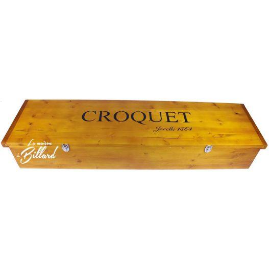 malle en bois pour jeu de croquet