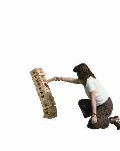 Tour géante en bois