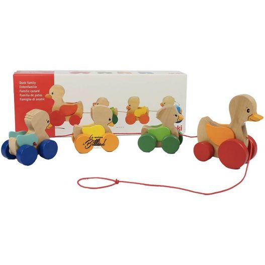 Canard à tirer - jouet en bois