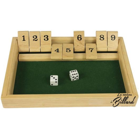 Fermez la boite de 9, shut the box
