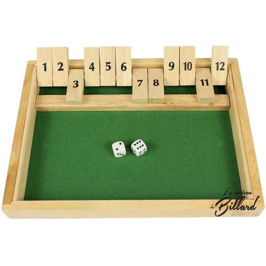 Shut the box jeux de bistrot