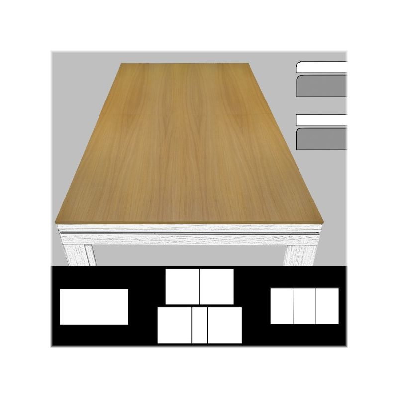 Plateau de table ST bord à bord