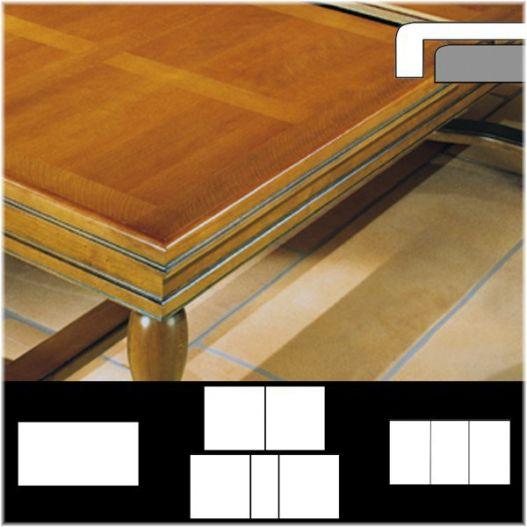 Plateau table RD à rabat extérieur droit, décor damiers