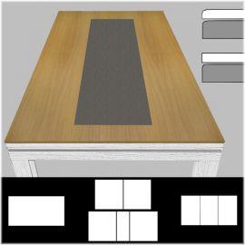 Plateau de table ST bord à bord, décor central béton