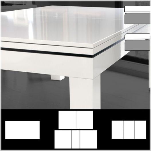Plateau de table ST bord à bord, laqué ou stratifié