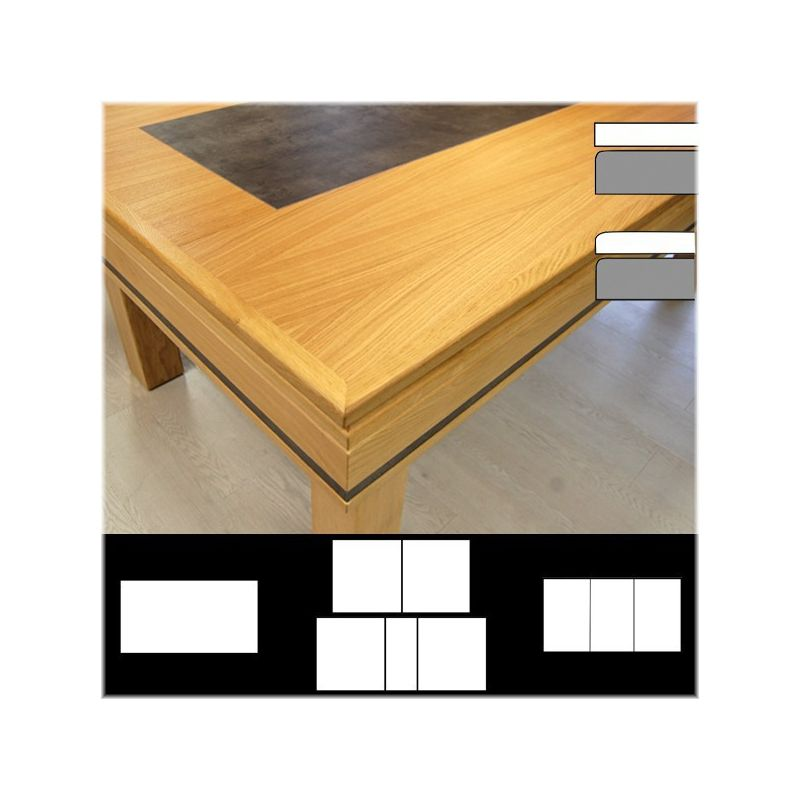Plateau table Luxe LB bord à bord décor béton
