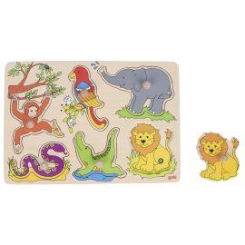 puzzle zoo sonore en bois