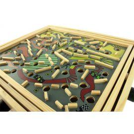 labyrinthe à billes en bois