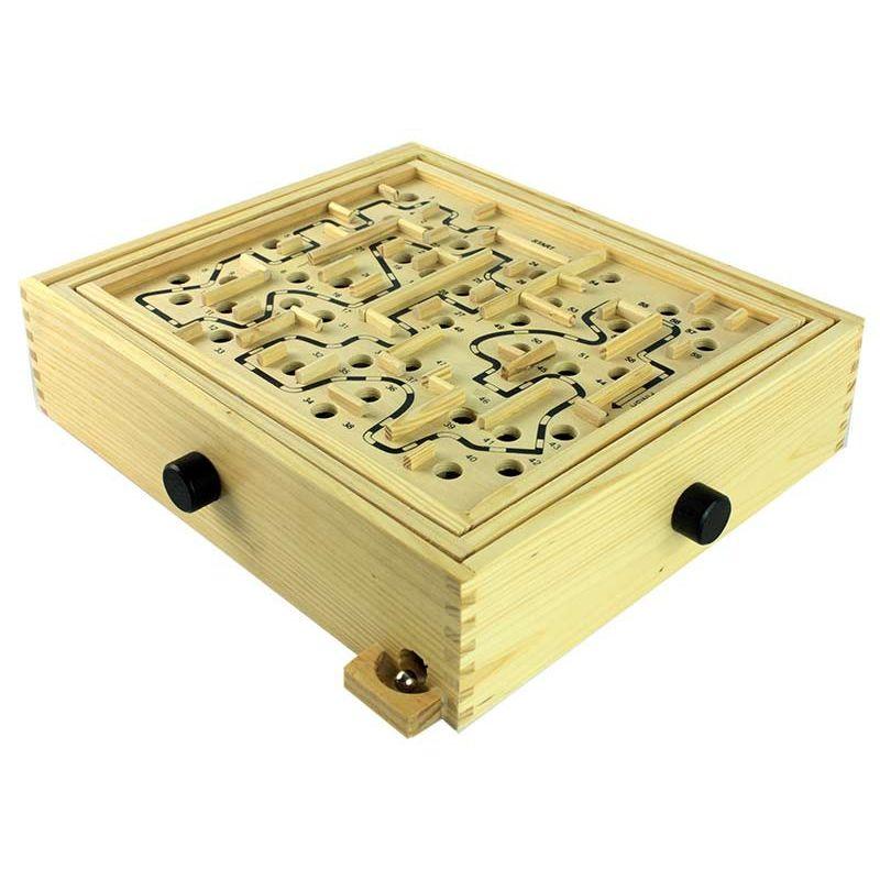 labyrinthe en bois 4 en 1