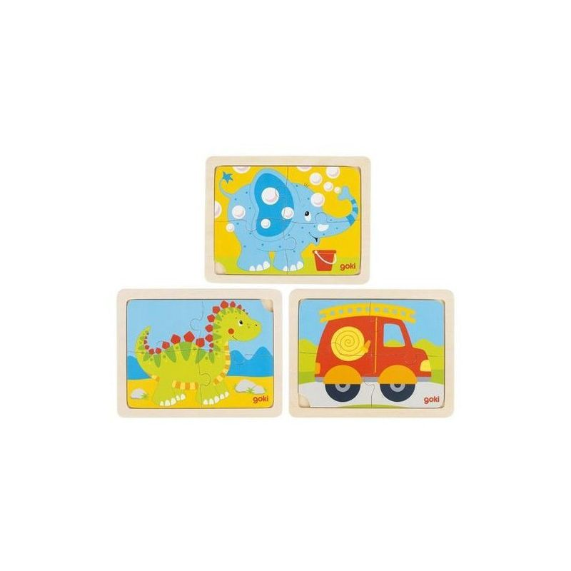 PUZZLE EN BOIS 4 pieces GOKI