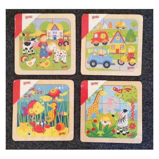 PUZZLE EN BOIS 9 pieces GOKI