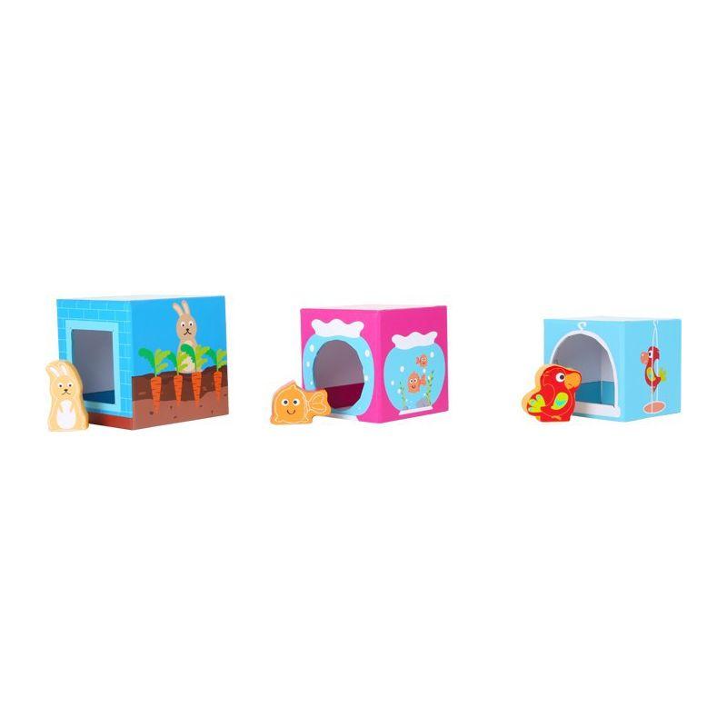 jeu en bois empilage cubes animaux domestiques enfants 12 mois. Black Bedroom Furniture Sets. Home Design Ideas