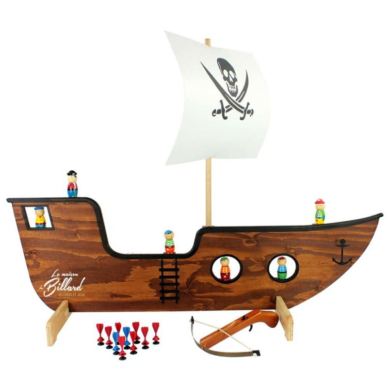 jeu de tir en bois bateau pirate. Black Bedroom Furniture Sets. Home Design Ideas