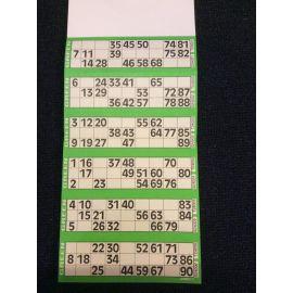 Carnet de 600 tickets pour jeu loto