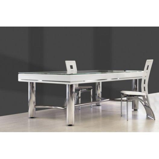 Billard table design metal chrome et bois - Harmony OH