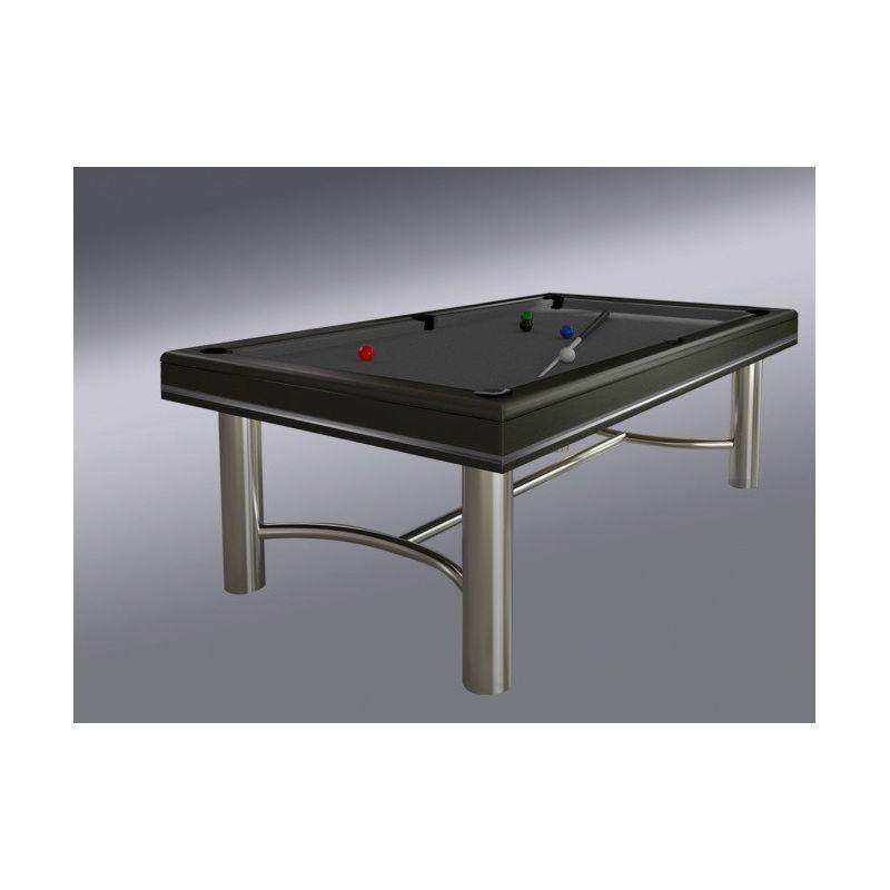 Billard table design avec metal chrome et bois massif - Table billard design ...