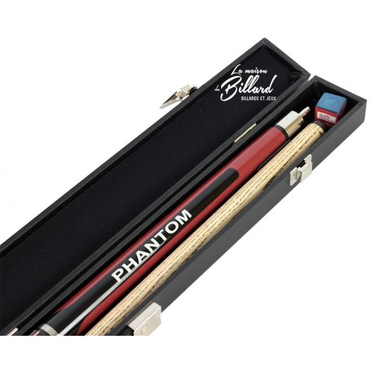 Coffret queue billard 8 Pool PHANTOM rouge