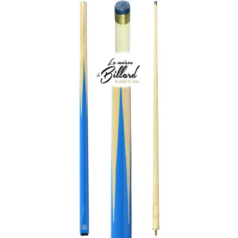 Queue de billard bleue turquoise démontable en 2 parties