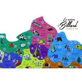 Puzzle en bois carte de France et Régions