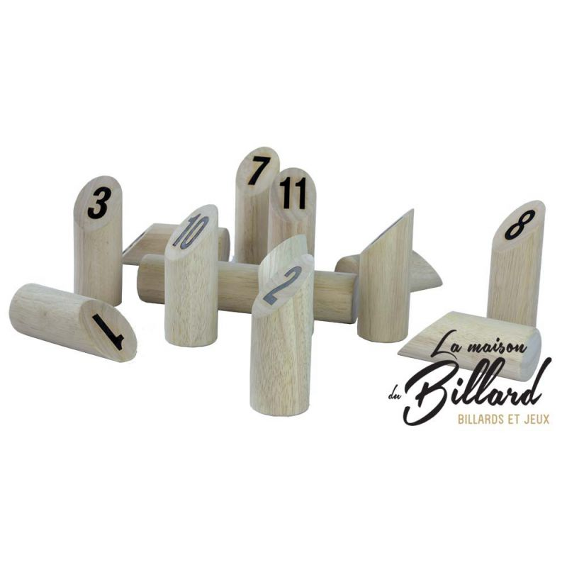 Number kubb original en bois