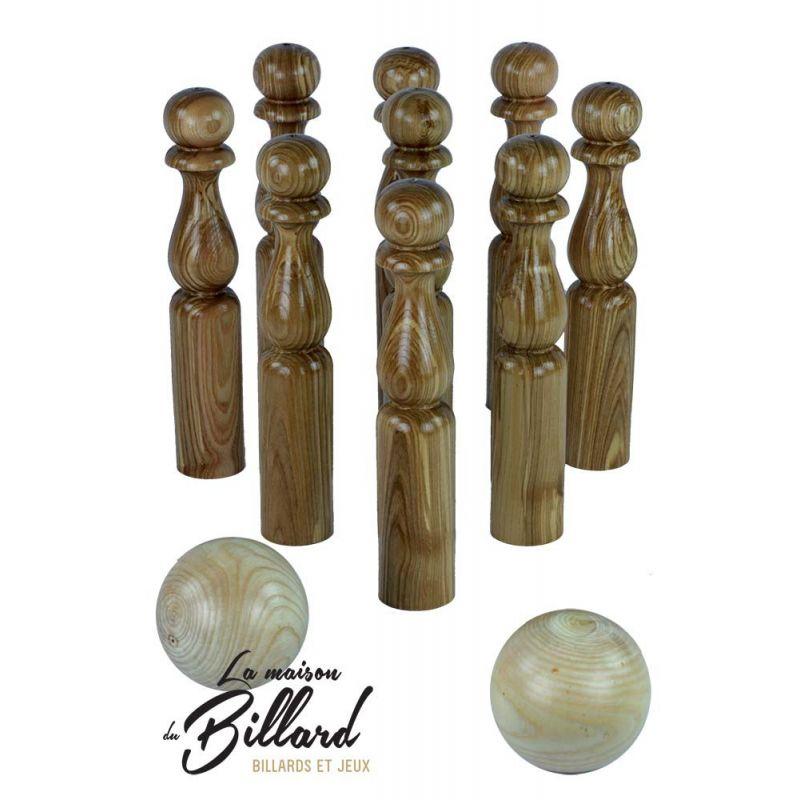 Jeu de quilles traditionnel en bois