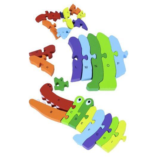 Croco-alpha puzzle pour apprendre l'alphabet