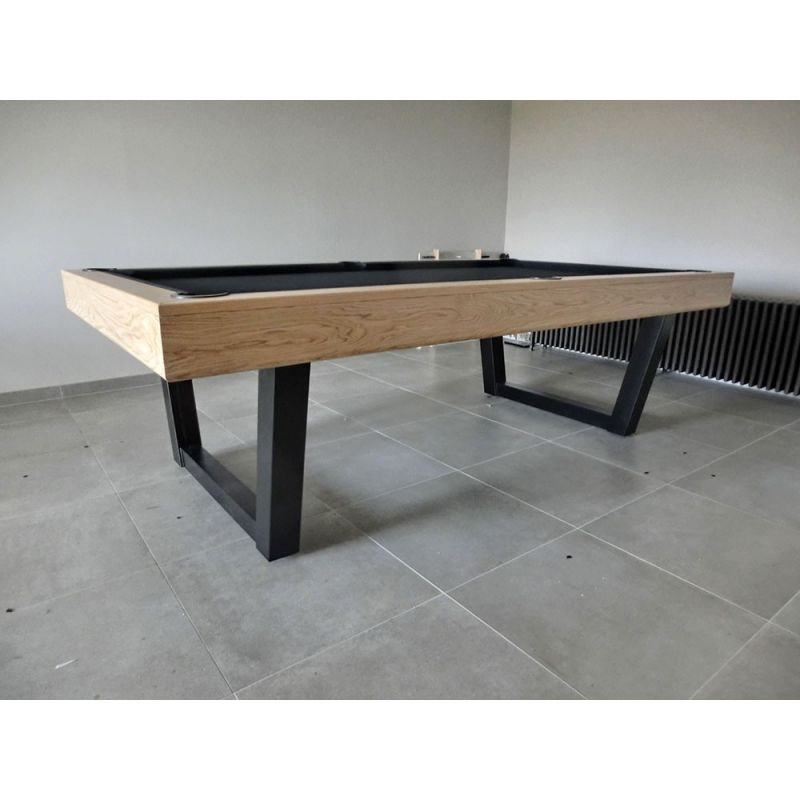 Table de billard harmony v inox et ch ne massif for Table de salle a manger et billard
