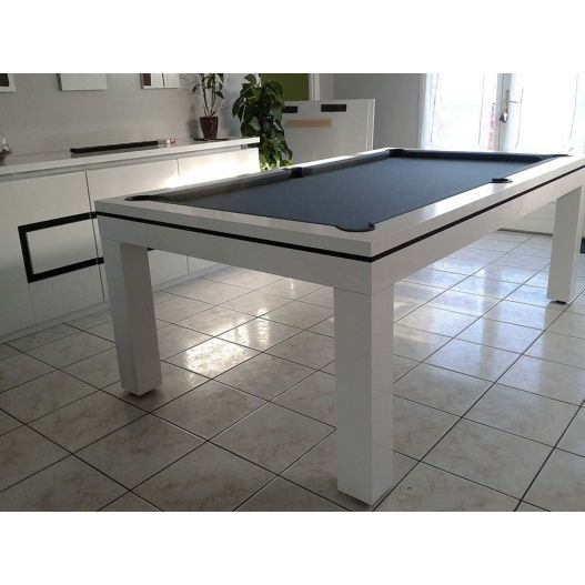 billard Novea, convertible en table, Blanc brillant