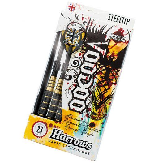 Fléchettes harrows acier Voodoo Brass 23 GK