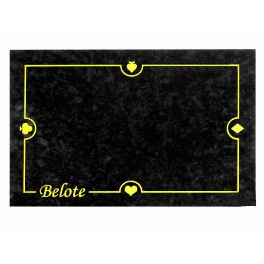Tapis de belote Noir