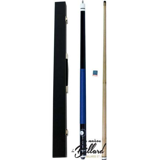 Coffret queue de billard mixte bleue et noir