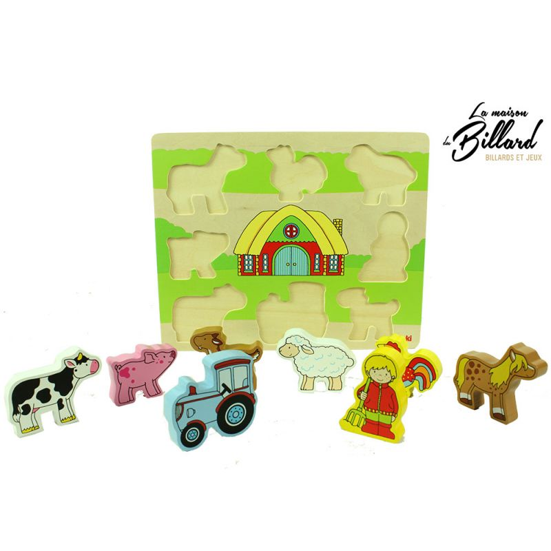 puzzle pour enfant sur la ferme