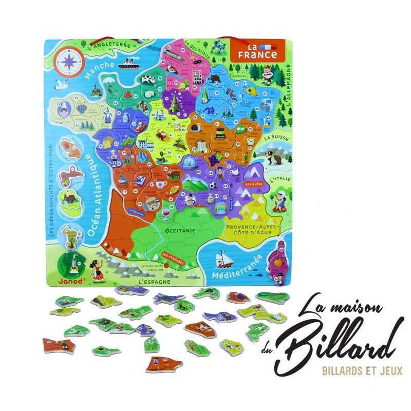 Puzzle carte de France et ces Regions