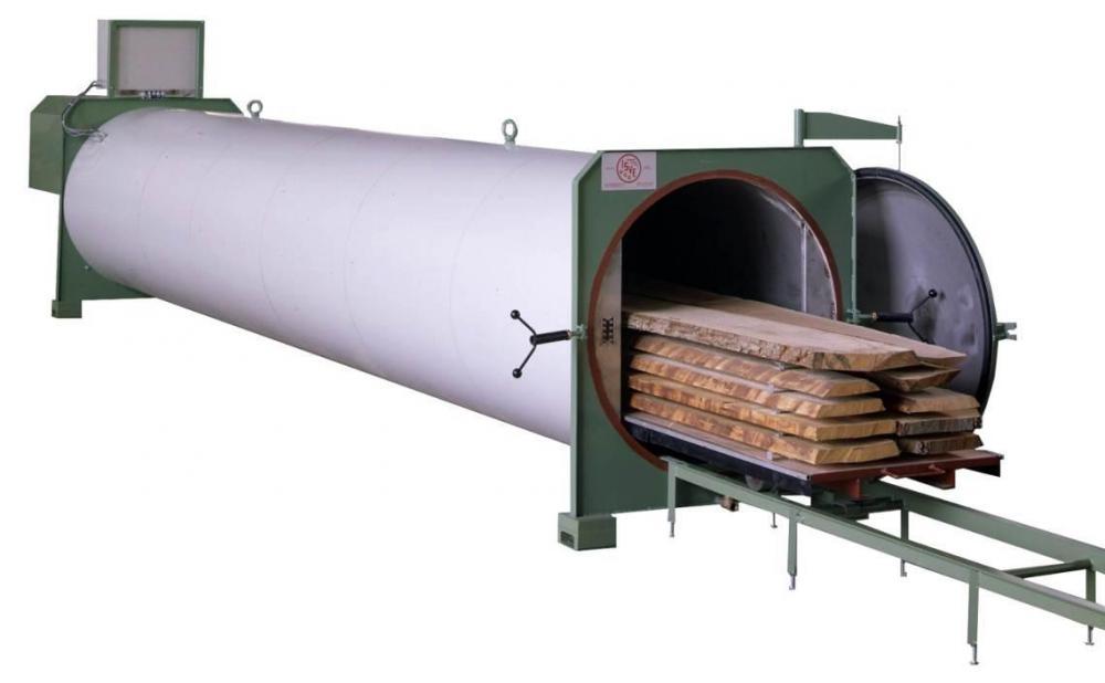 Sechoire sous vide pour sécher le bois massif nécessaire à la fabrication d'un billard ou billard table