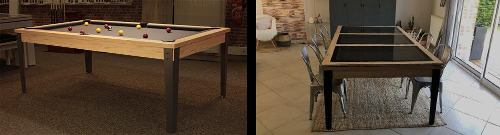 Table convertible en billard