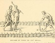 Jouet en bois historique 1800 ancêtre du jeux de croquet