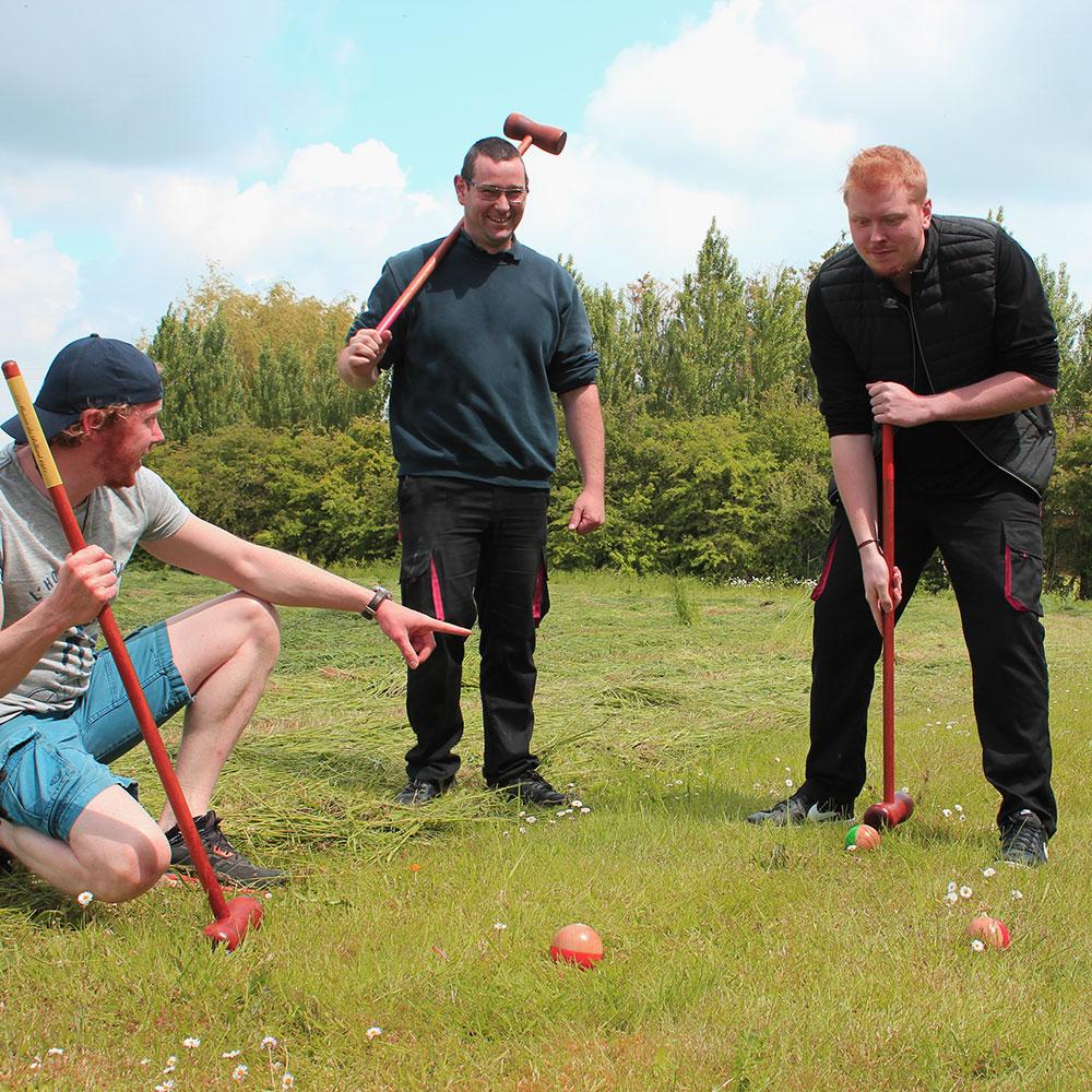 Croquet vintage 4 joueurs