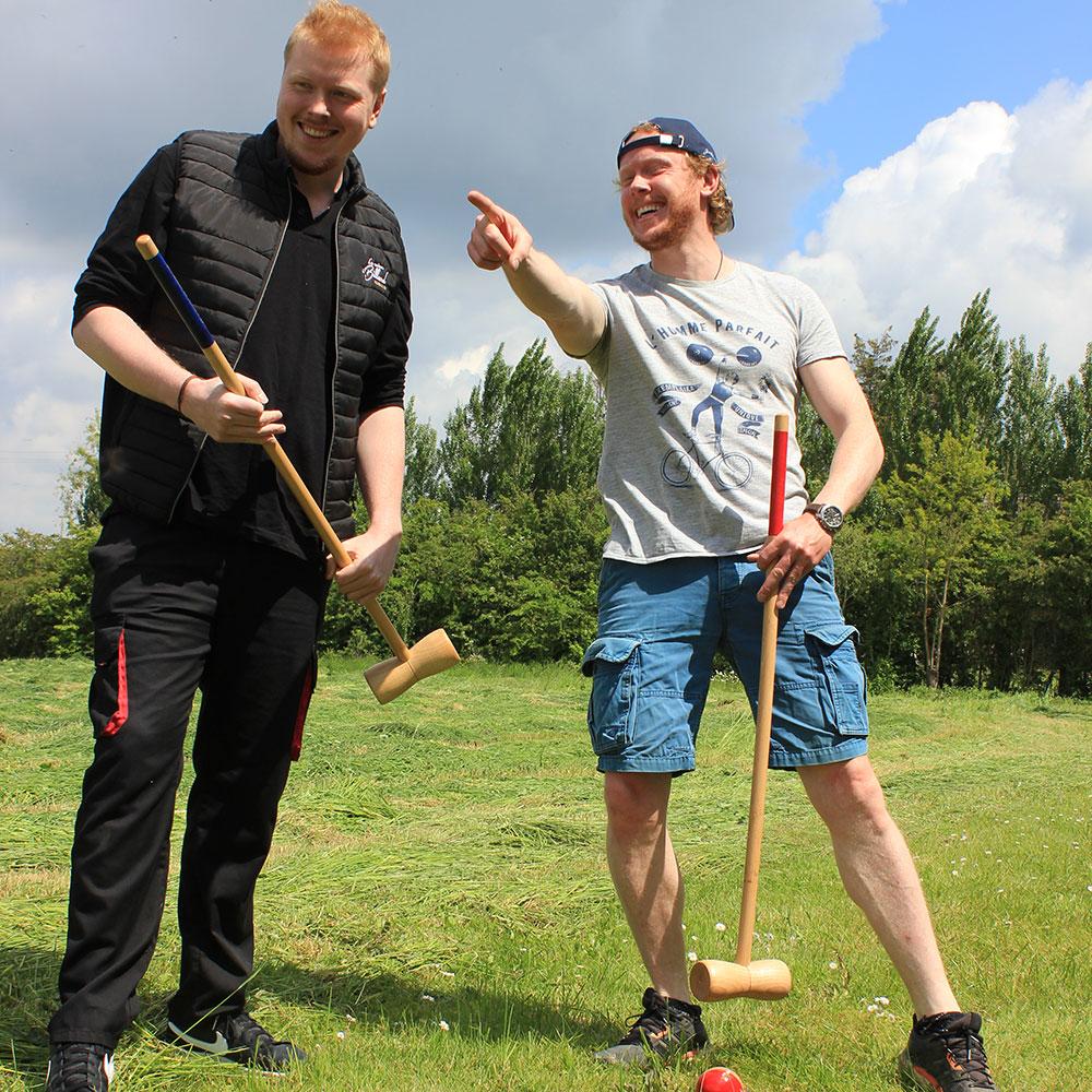 jeu en bois de croquet