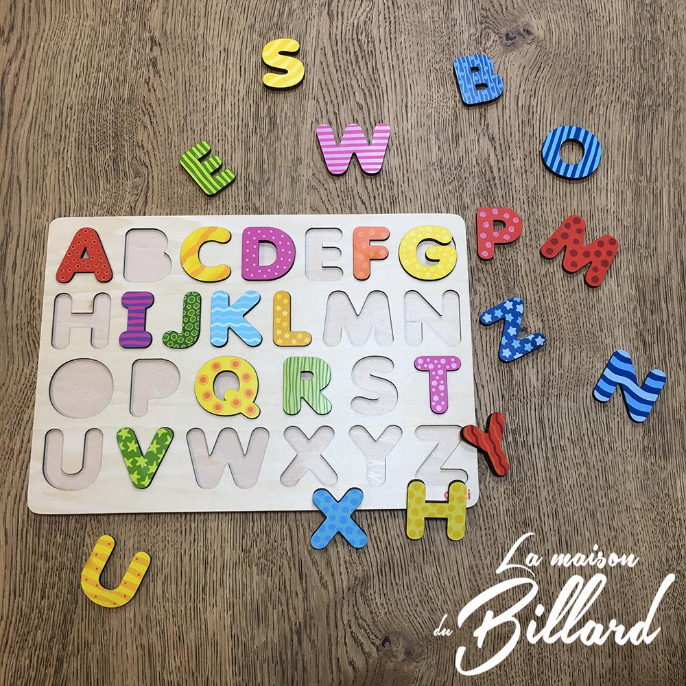 Puzzle lettres alphabet