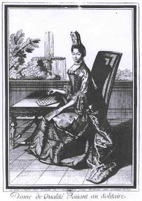 La princesse de Soubise (Anne Chabot de Rohan 1663-1709)Jeu du Solitaire
