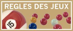 Régles des différents jeux de billard