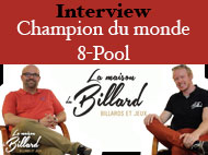 Interview Roger Dumortier champion du monde de 8-Pool  Black Ball