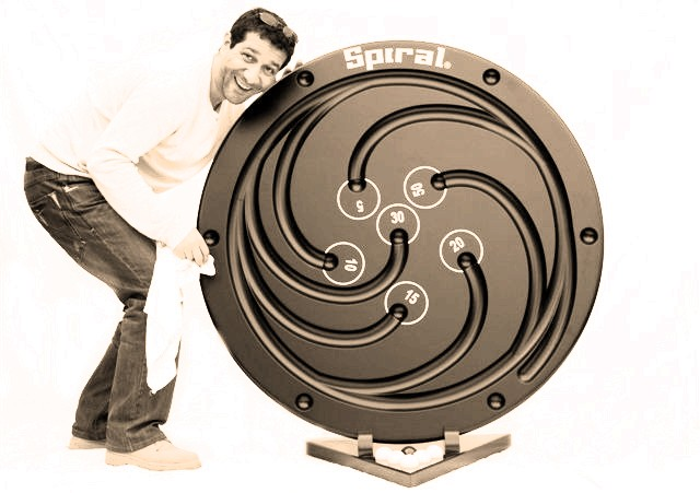 Spiral billard bordelais jeu géant en bois